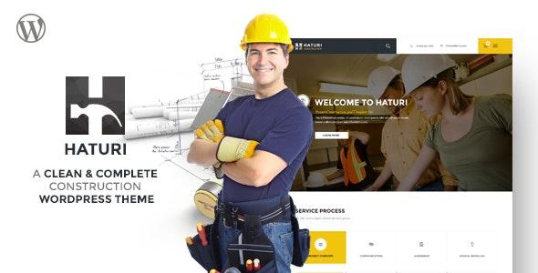 Haturi - Construction Business WP Theme - Business Corporate