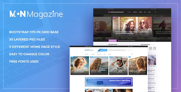 Mon Magazine - PSD Template for Magazine - Business Corporate