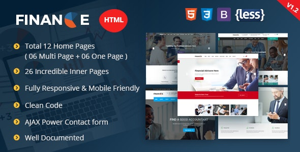 Finance - Corporate and Business HTML Template - Business Corporate
