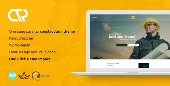 Consta - One Page Construction WordPress Theme - Corporate WordPress