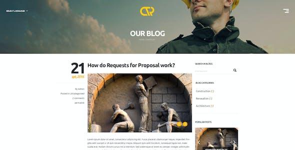 Consta - One Page Construction WordPress Theme