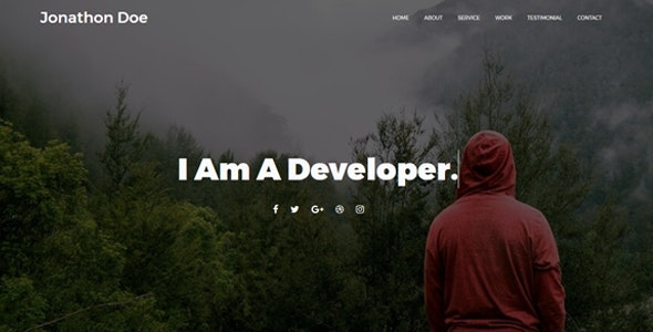 Loster - Personal Portfolio Template - Personal Site Templates