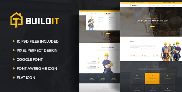 BuildIt - Construction PSD Template - Business Corporate