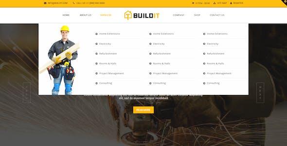 BuildIt - Construction PSD Template
