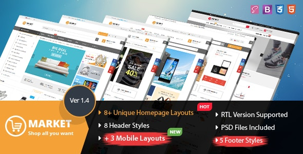 Market - Multipurpose eCommerce HTML Template by magentech