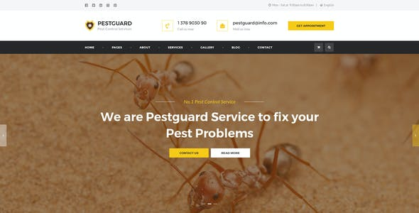 PestGuard - Responsive Pest Control HTML Template