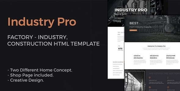 IndustryPro - Factory, Industrial, Construction Business HTML Template - Business Corporate