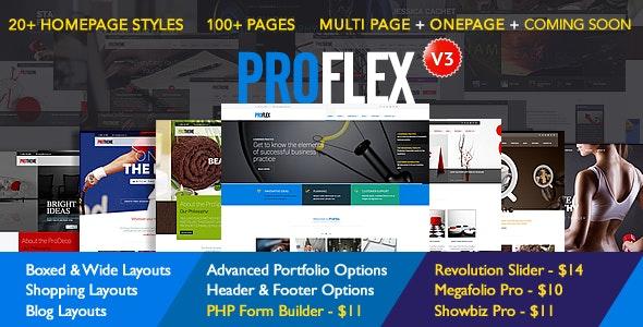 ProFlex Multi-Purpose Responsive Template - Corporate Site Templates