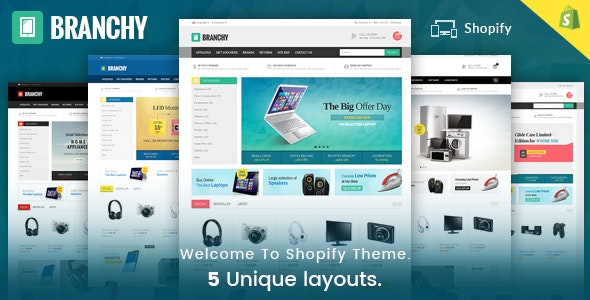 Branchy - Sectioned Multipurpose Shopify Theme - Shopping Shopify