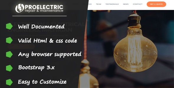 PROELECTRIC - Responsive HTML Template - Electronics Technology