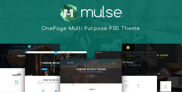 Mulse - Multi Purpose PSD OnePage Template - Creative Photoshop