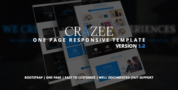 Crazee - Onepage Parallax Business Template - Business Corporate