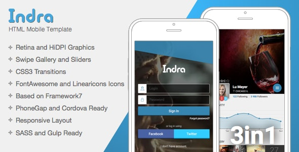 Indra | Mobile & Tablet Responsive Template - Mobile Site Templates