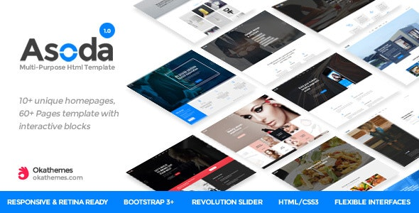Asoda - Multi-Purpose Responsive Website Template - Corporate Site Templates