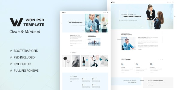WON - Clean Multipurpose HTML - Creative Site Templates
