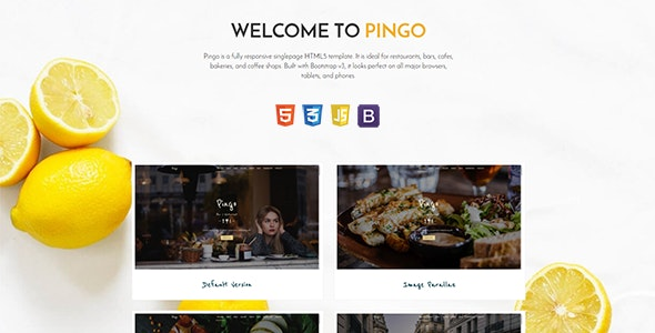 Pingo - Responsive Restaurant and Bar Template - Restaurants & Cafes Entertainment