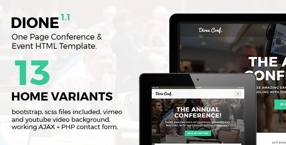 Dione - Conference & Event HTML Template