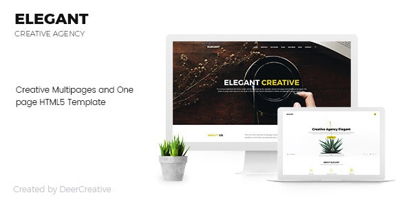 Elegant   Creative Multipages and One page HTML5 Template - Creative Site Templates