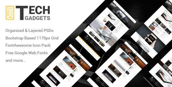 Tech Gadgets - Tech Blog Design - Technology Photoshop