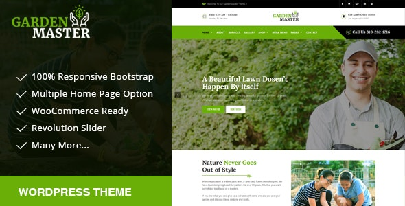 Garden Master - Gardening, Lawn & Landscaping Multi-Purpose WordPress Theme - Environmental Nonprofit