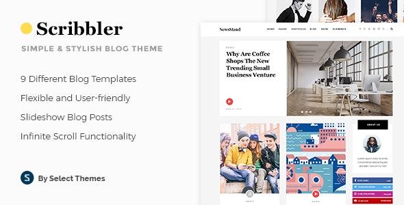 Scribbler - Simple Blog Theme - Blog / Magazine WordPress