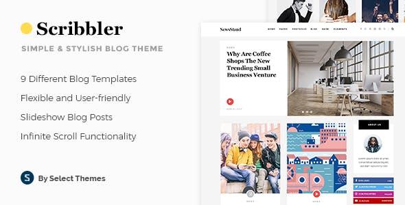 Scribbler - Simple Blog Theme