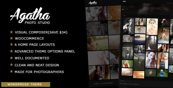 Agatha | Photography Fullscreen Theme - Photography Creative