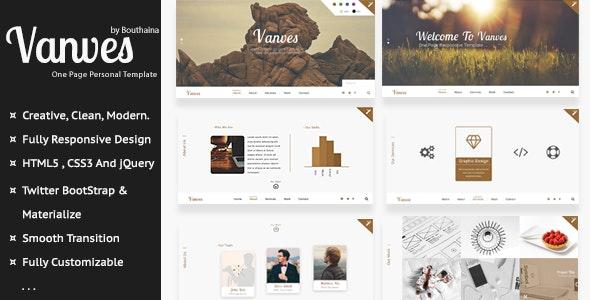 Vanves - Multipurpose Responsive Template - Creative Site Templates