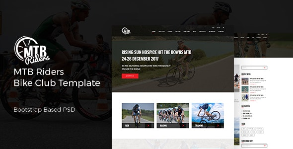 MTB Riders - Mountain Bike PSD Template - Miscellaneous Photoshop