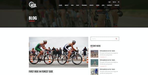 MTB Riders - Mountain Bike PSD Template