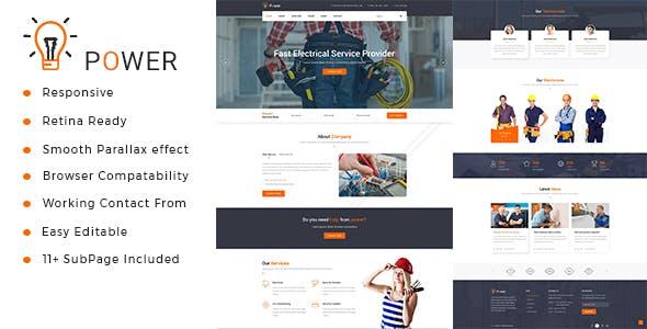Power : Electrician & Repairing HTML Template