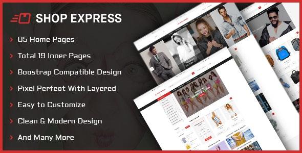 Shop Express PSD Template - Fashion Retail