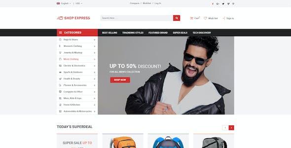 Shop Express PSD Template