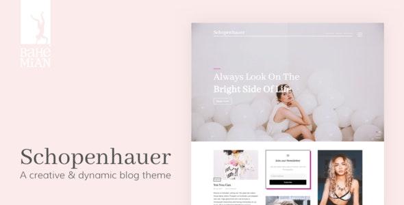 Schopenhauer - A creative & dynamic Blog Theme - Blog / Magazine WordPress
