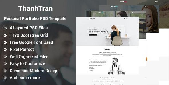 ThanhTran-Personal Portfolio PSD Template - Portfolio Creative