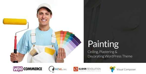 Painting - Ceiling & Decorating WordPress Theme - Business Corporate