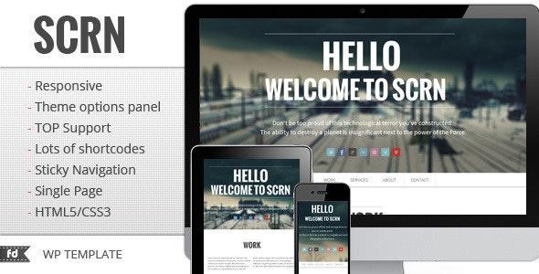 SCRN – Responsive one page / single page portfolio