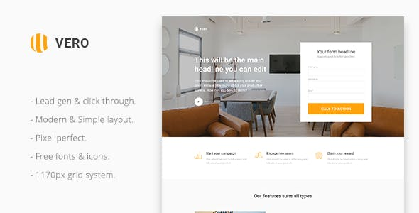 Download Vero Responsive - Marketing Landing Page Muse Template