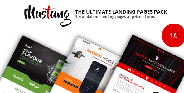 Mustang Landing Pages Pack - Landing Pages Marketing