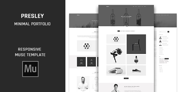 Presley - Minimal Multipage Portfolio Muse Template - Creative Muse Templates