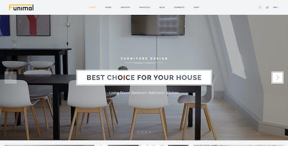 Funimal - Premium Furniture/Interior PSD Template