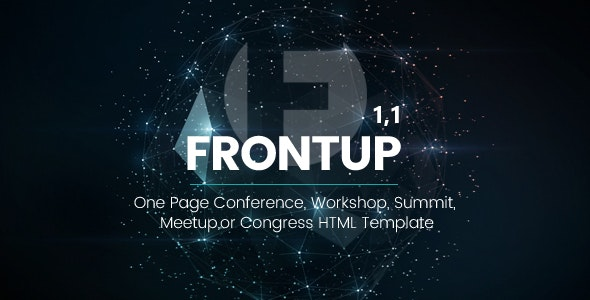 FrontUp - Conference & Event HTML5 Landing Page Template - Landing Pages Marketing