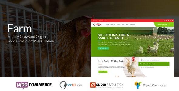 Farm - Organic Poultry & Crow WordPress Theme - Food Retail