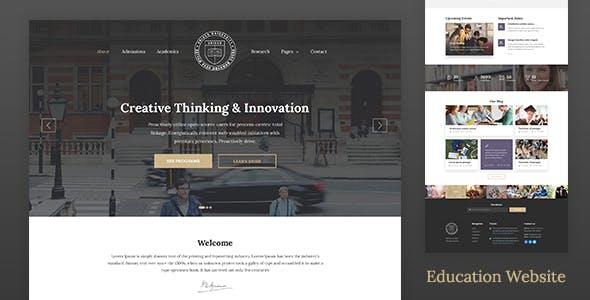 Education Website Template for School, College & University — Unisco HTML
