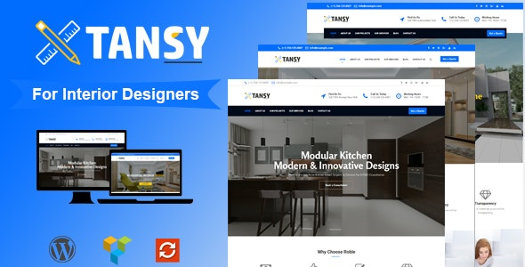 Tansy - Minimal Interior Design Agency WP Theme - Portfolio Creative