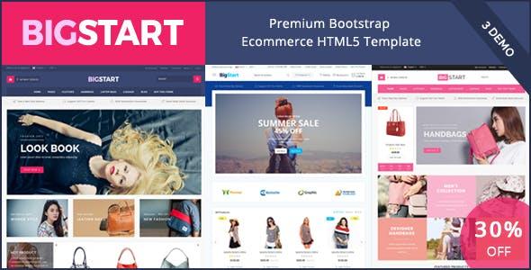 BigStart - Ecommerce Responsive HTML Template & Theme