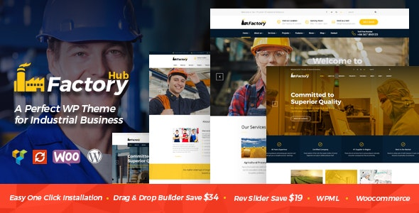 Factory HUB - Industry and Construction WordPress Theme by SteelThemes