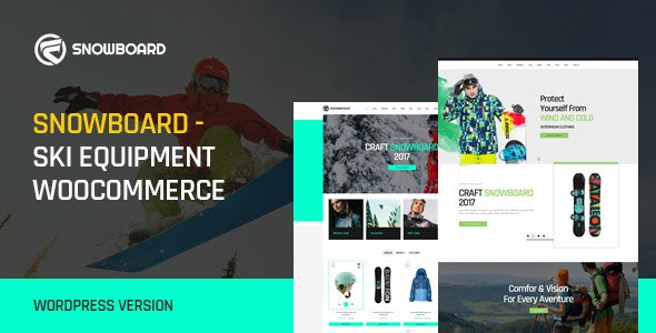 Snowboard - Ski Equipment WooCommerce WordPress Theme - WooCommerce eCommerce