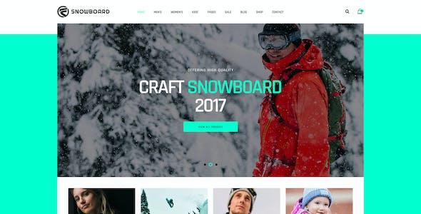 Snowboard - Ski Equipment WooCommerce WordPress Theme