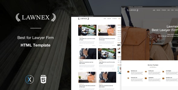Lawnex a Lawyers Firm Template - Corporate Site Templates